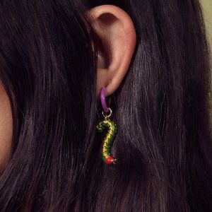 Man Repeller Caterpillar Earring